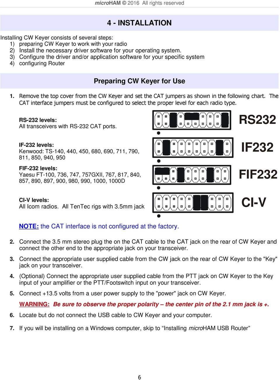 Microham 2016 All Rights Reserved Cw Keyer Fax Homepage Pdf 790 Kenwood Radio Wiring Diagram Remove The Top Cover From And Set Cat Jumpers As Shown In