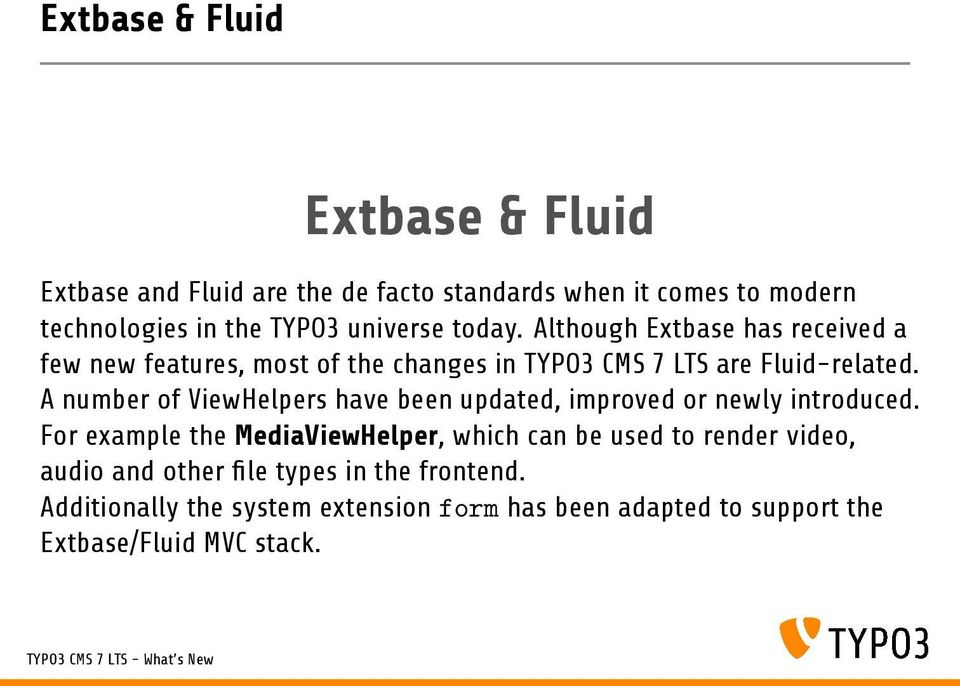 TYPO3 CMS 7 LTS - What s New Extbase & Fluid - PDF