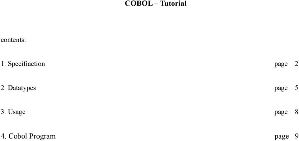COBOL Tutorial  4  Cobol Program page 9 - PDF