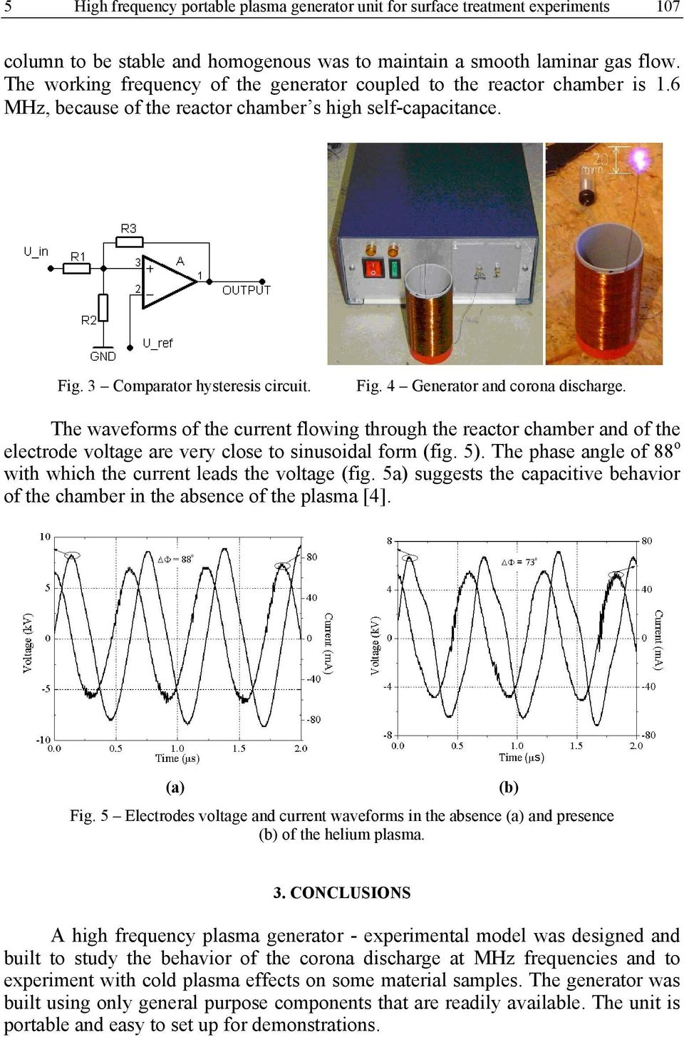 High Frequency Portable Plasma Generator Unit For Surface Treatment The Figure Below Shows Pir325 Electricalspecifications And Layout Waveforms Of Current Flowing Through Reactor Chamber Electrode Voltage Are
