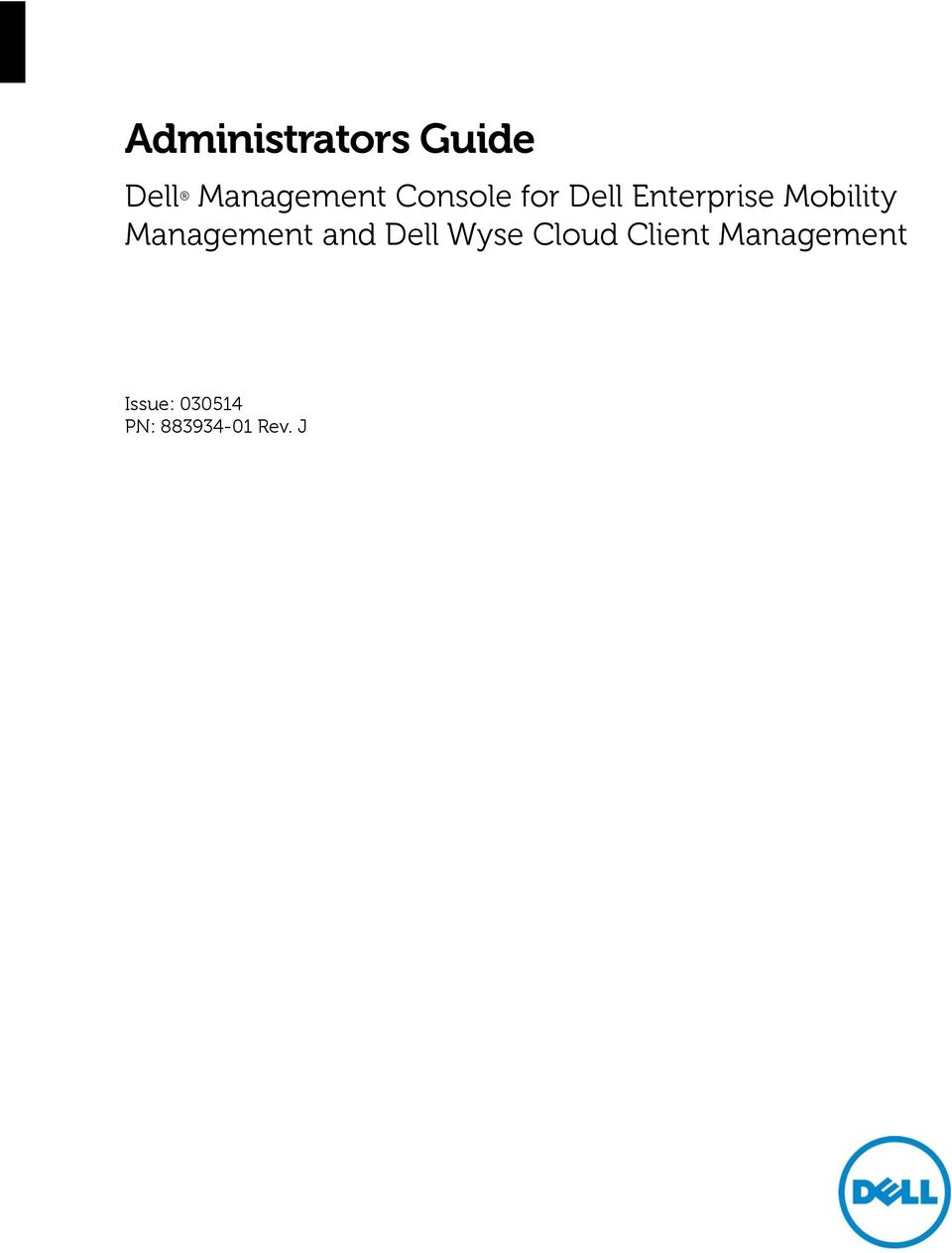 Administrators Guide  Dell Management Console for Dell