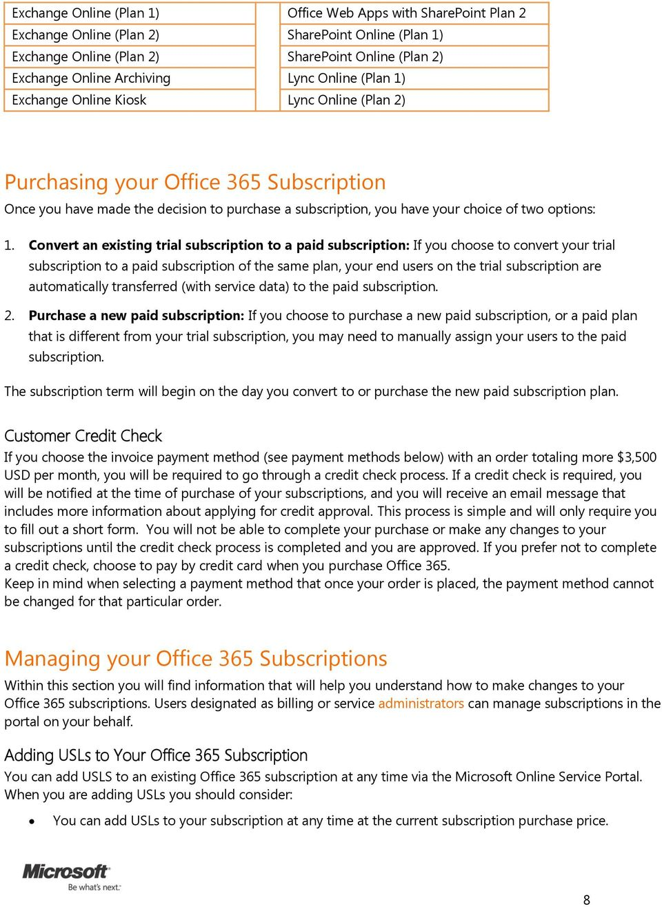 Microsoft Office 365 for midsize businesses and enterprises