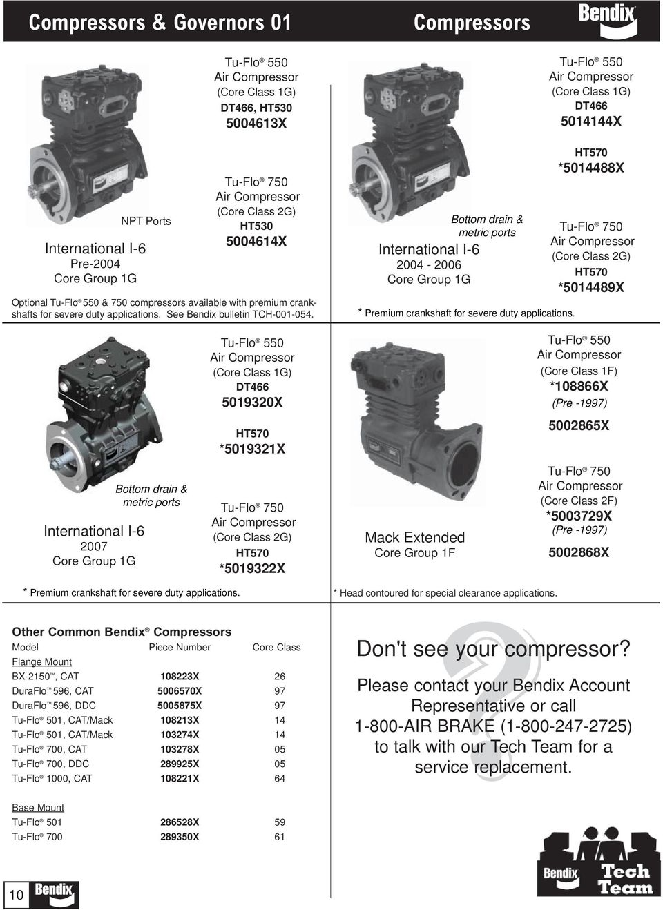 Compressors Governors 01 Pdf Navistar Ht 570 Engine Diagram Core Class 1g Dt466 5014144x Ht570 5014488x 2g