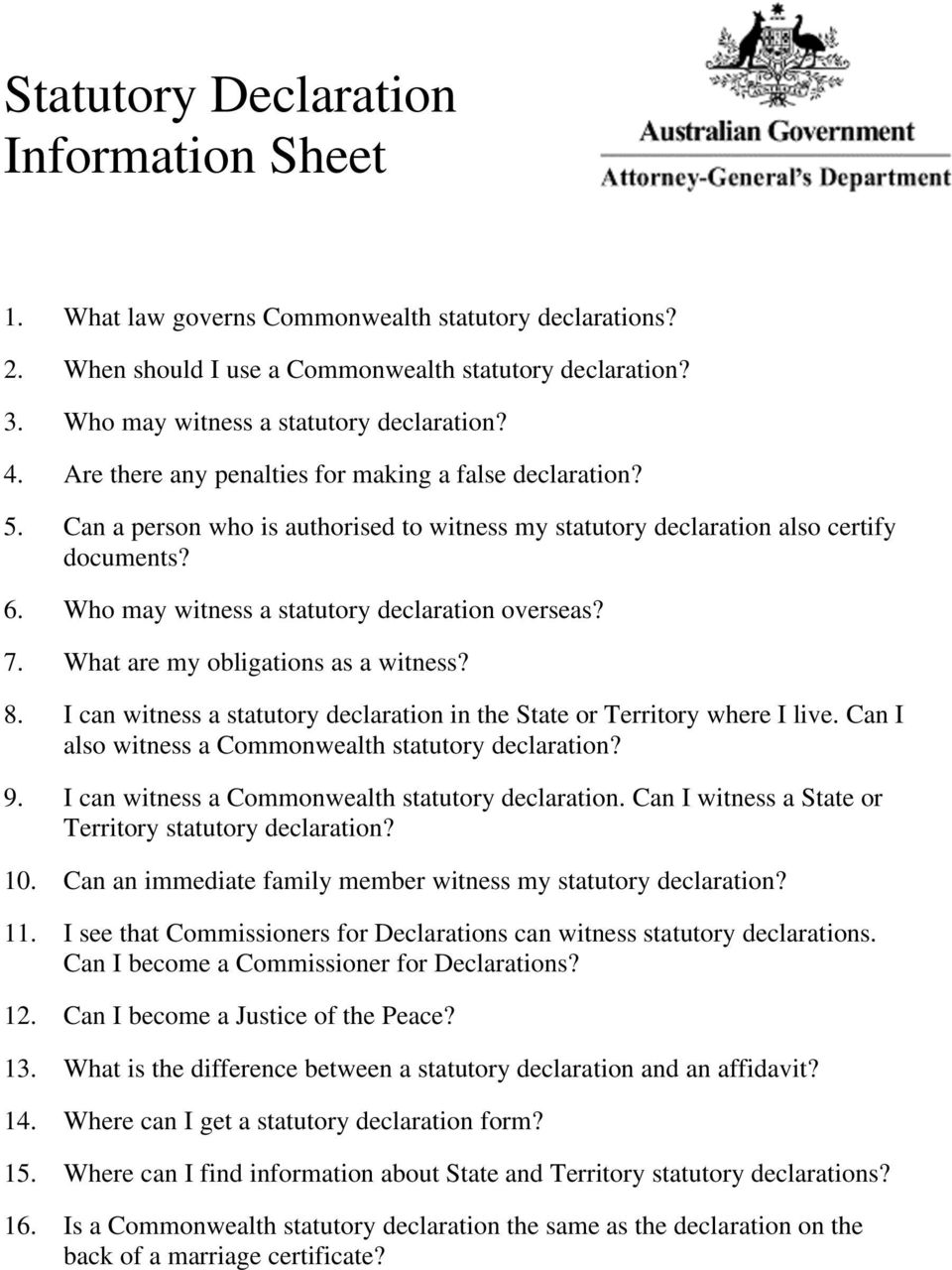 Statutory declaration information sheet pdf who may witness a statutory declaration overseas 7 what are my obligations as a thecheapjerseys Images