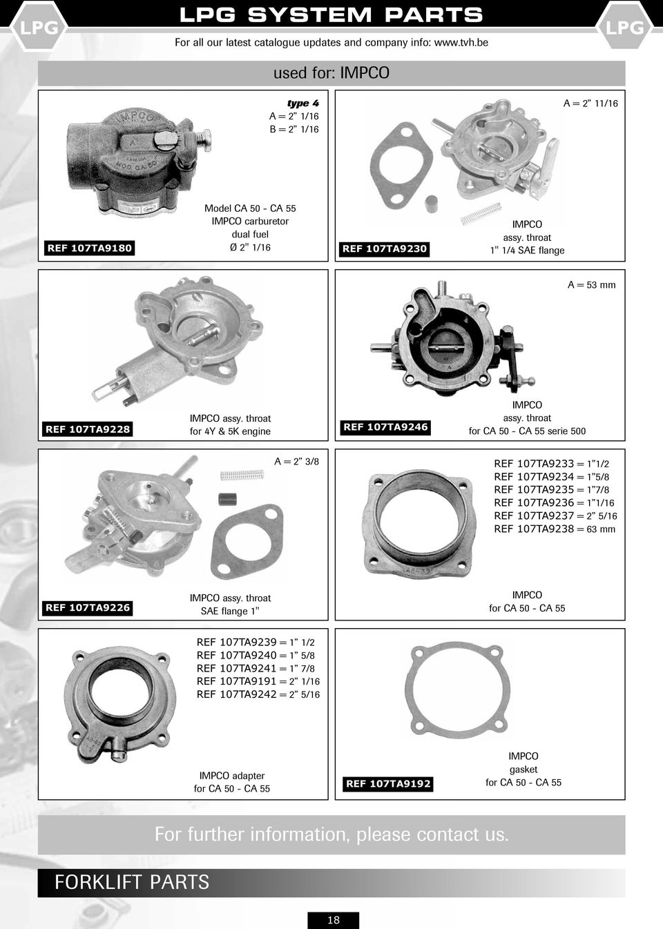 Lpg System Parts Ref Division Pdf Zenith Carburetor Diagram On Exploded Throat For Ca 50 55 Serie 500 A 2 3 8