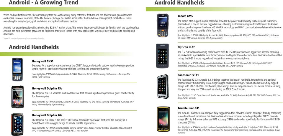 Android Catalogue  Handhelds Software Tablets - PDF