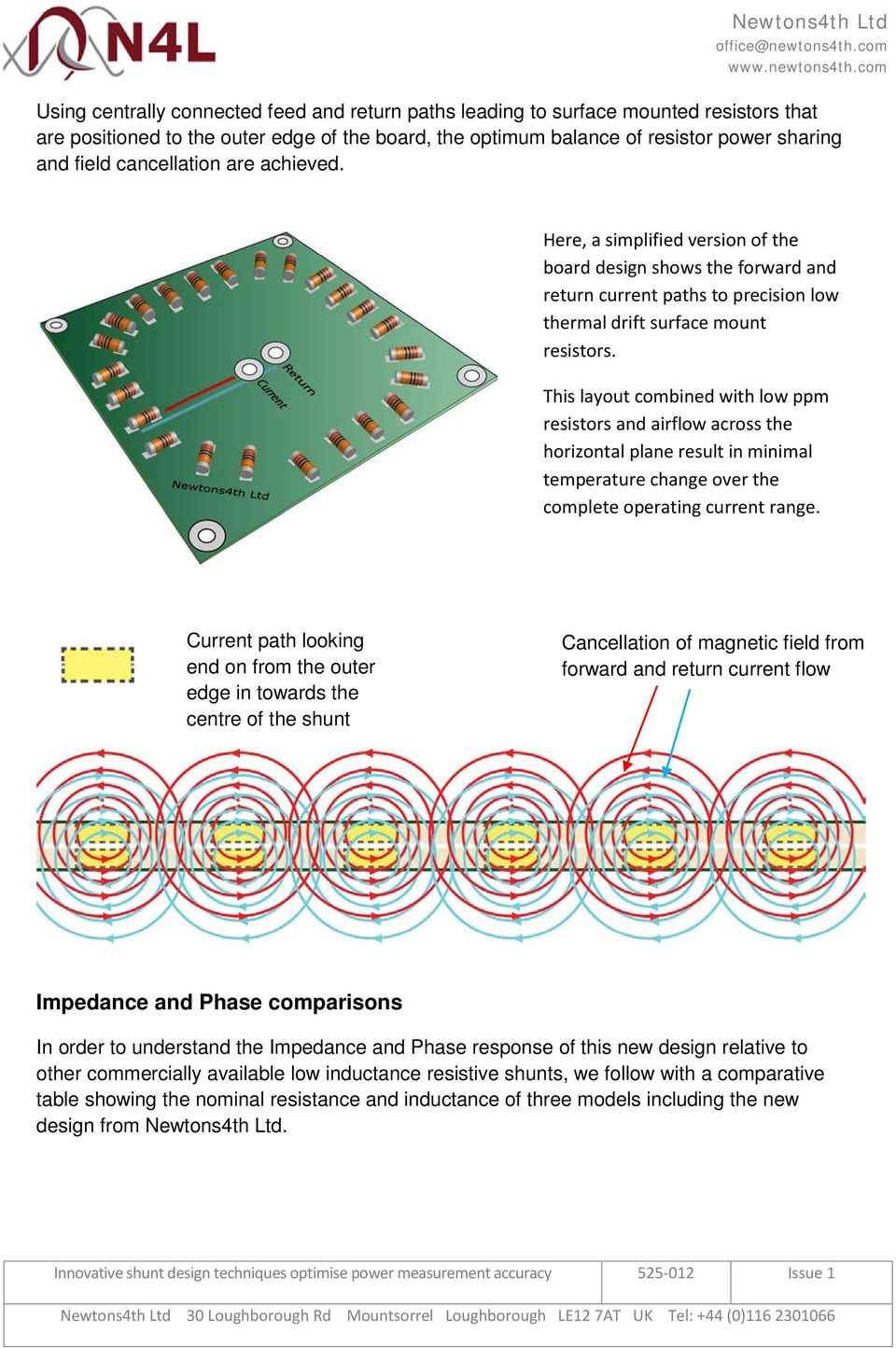 This layout combined with low ppm resistors and airflow across the horizontal plane result in minimal temperature change over the complete operating current range.