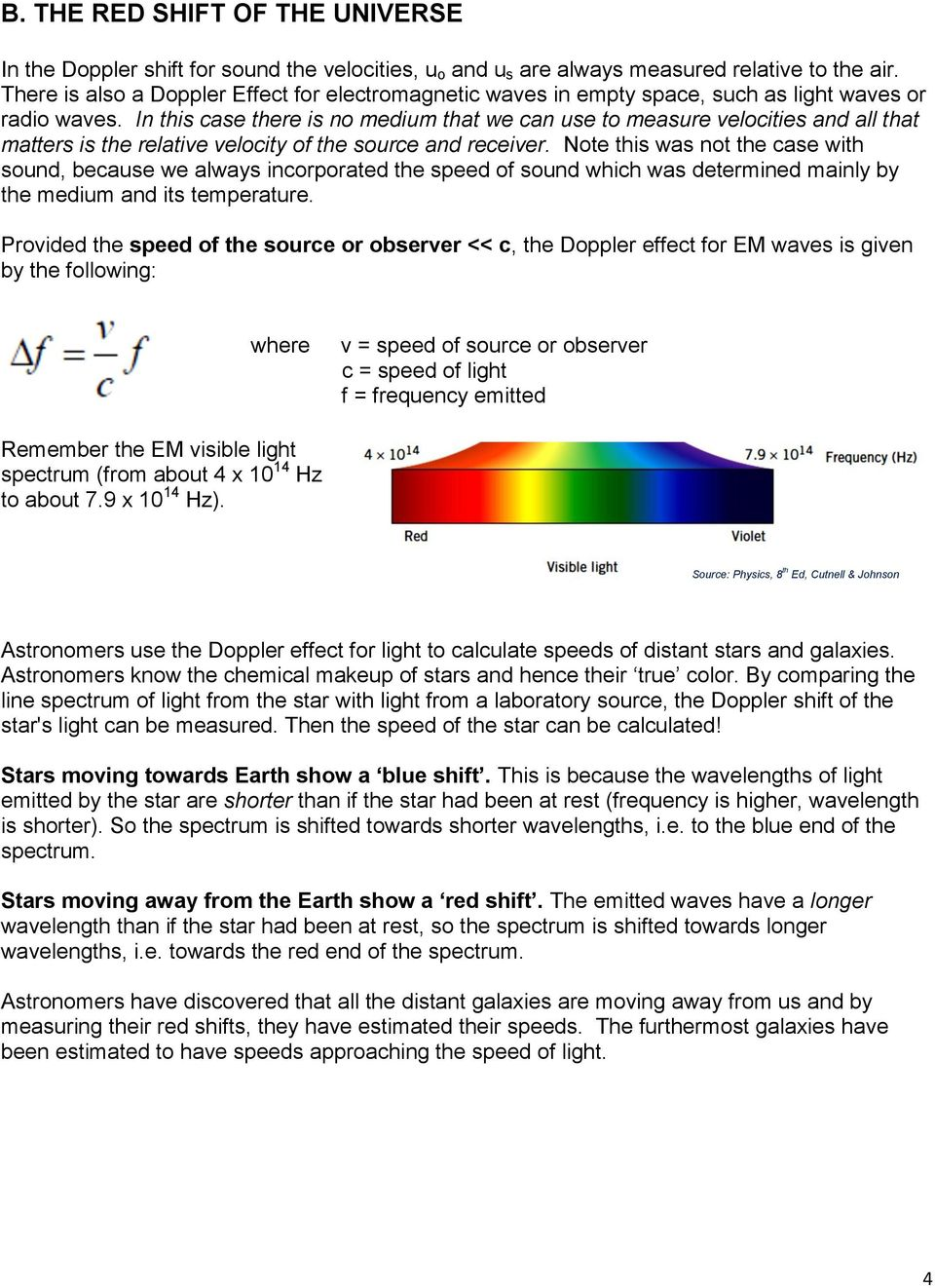 11 2 THE DOPPLER EFFECT Notes - PDF