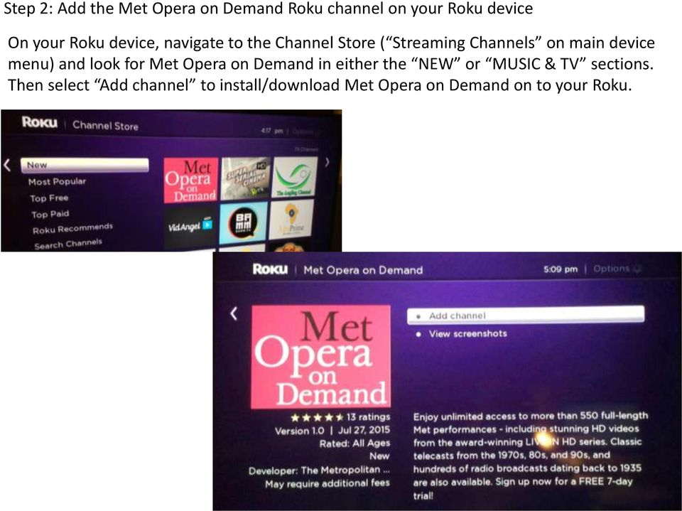 Getting Started with the NEW Met Opera on Demand Roku Channel  July PDF