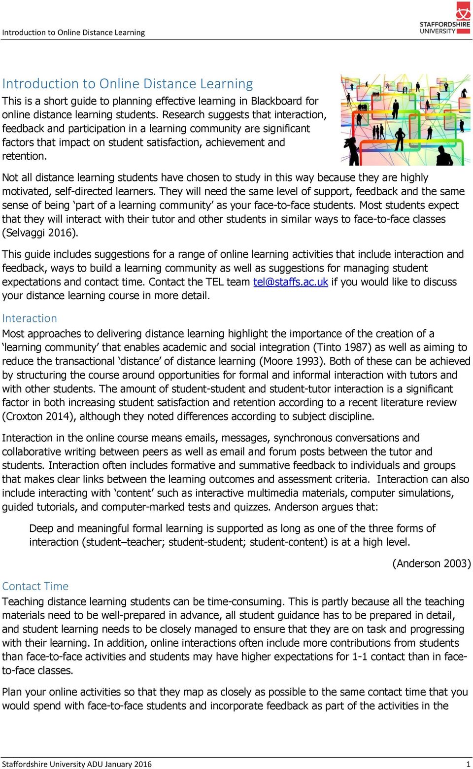 Introduction to Online Distance Learning - PDF