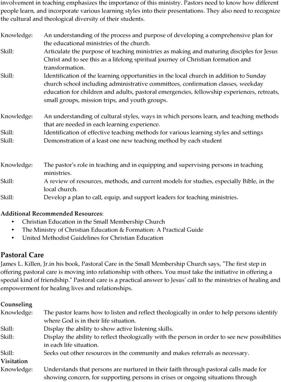 License for Pastoral Ministry Curriculum - PDF