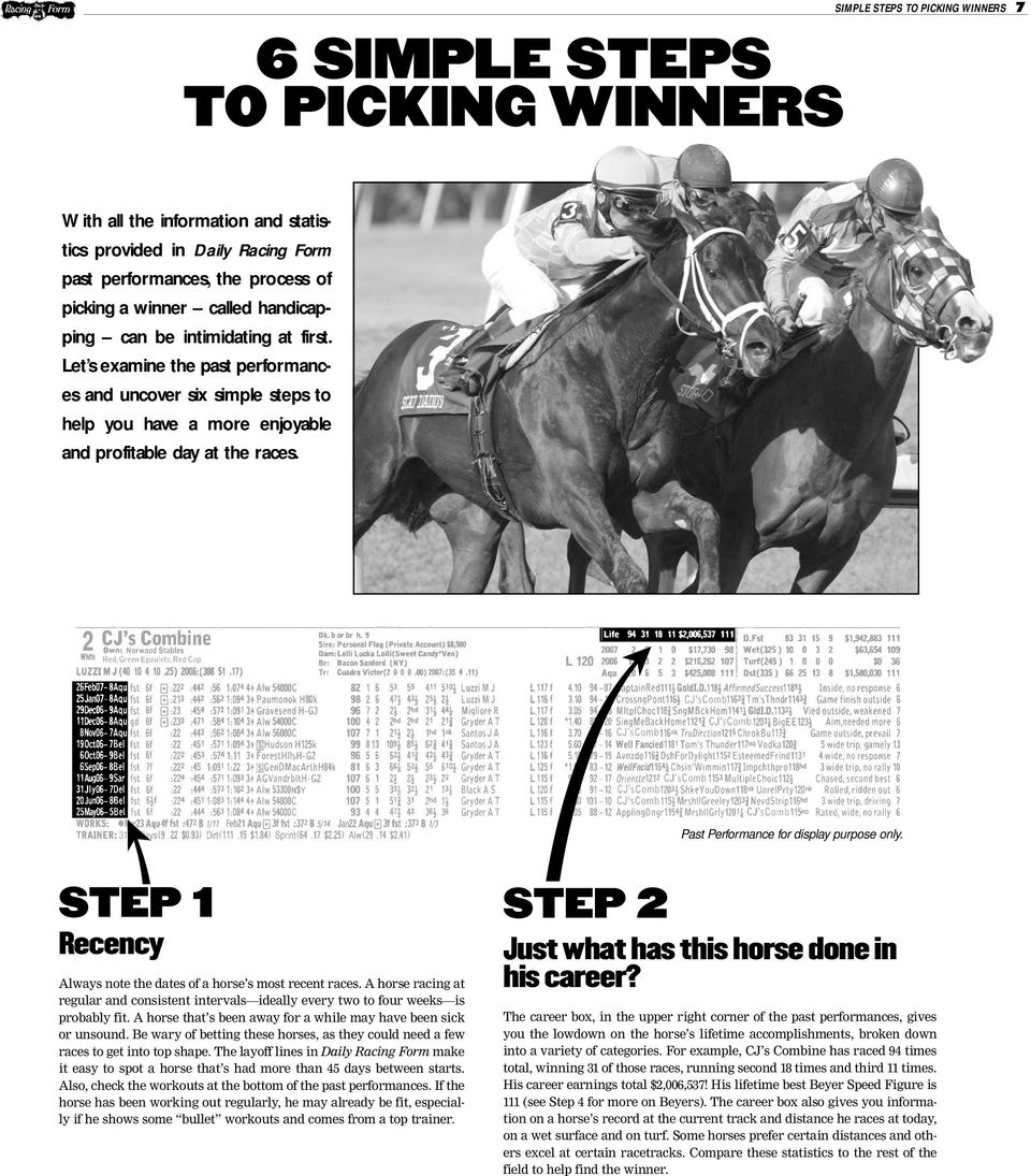Wagering & Winning HARD SPUN AND A HOST OF OTHER KENTUCKY DERBY