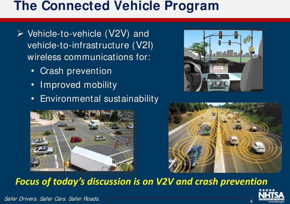 Crash prevention Improved mobility Environmental