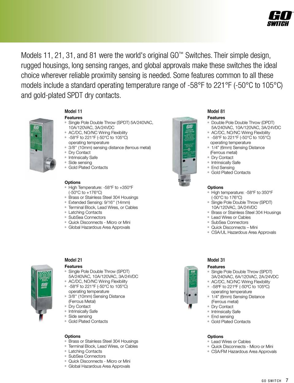 Go Gets It The All In One Proximity Sensor And Limit Switch Pdf Together With Circuit Diagram Some Features Common To These Models Include A Standard Range Of 58 F