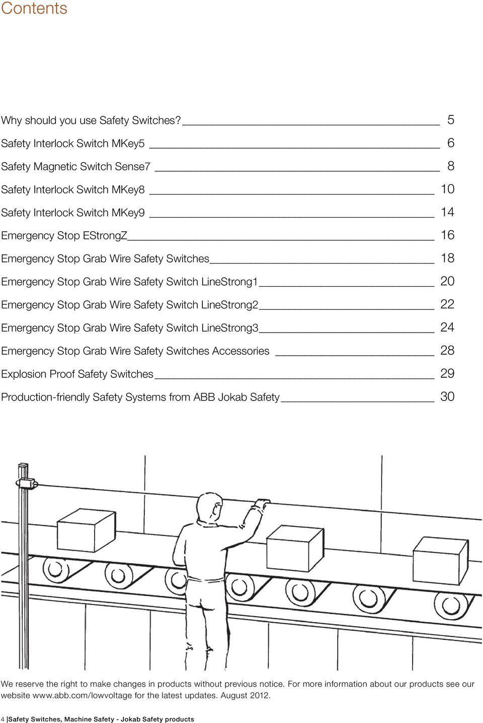 Safety Switches Machine Jokab Products Pdf Emergency Stop Button Wiring Diagram 18 Grab Wire Switch Linestrong1 20 Linestrong2