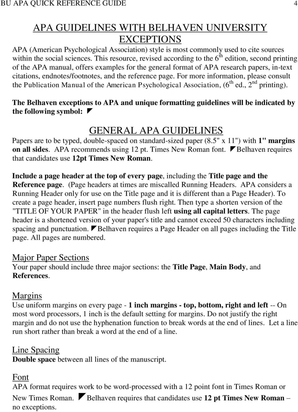 apa formating guide