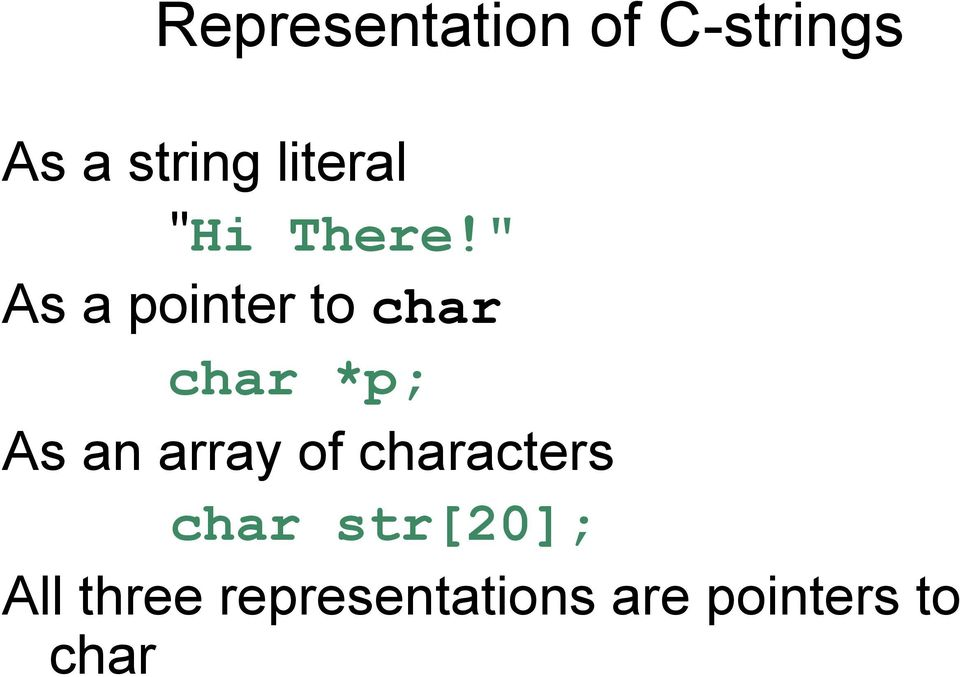 Lecture: #6  More About Characters, Strings, and the string Class - PDF