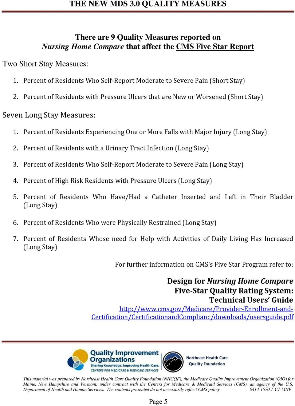 Understanding The New Mds 3 0 Quality Measures Pdf