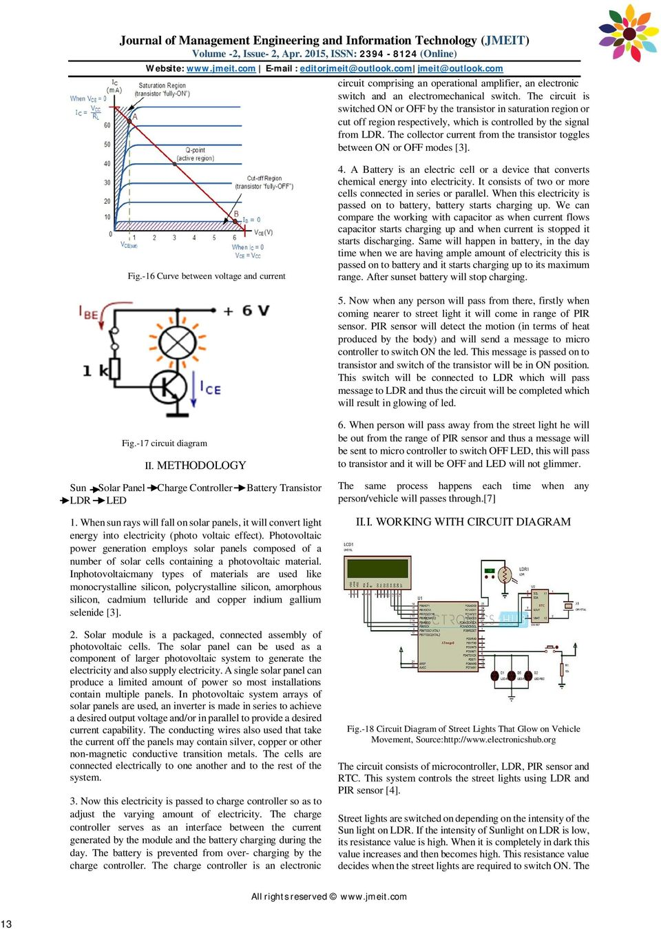 Electronic Street Light Using Solar Power And Led Pdf Two Wiring Diagram At The Collector Current From Transistor Toggles Between On Or Off Modes 3