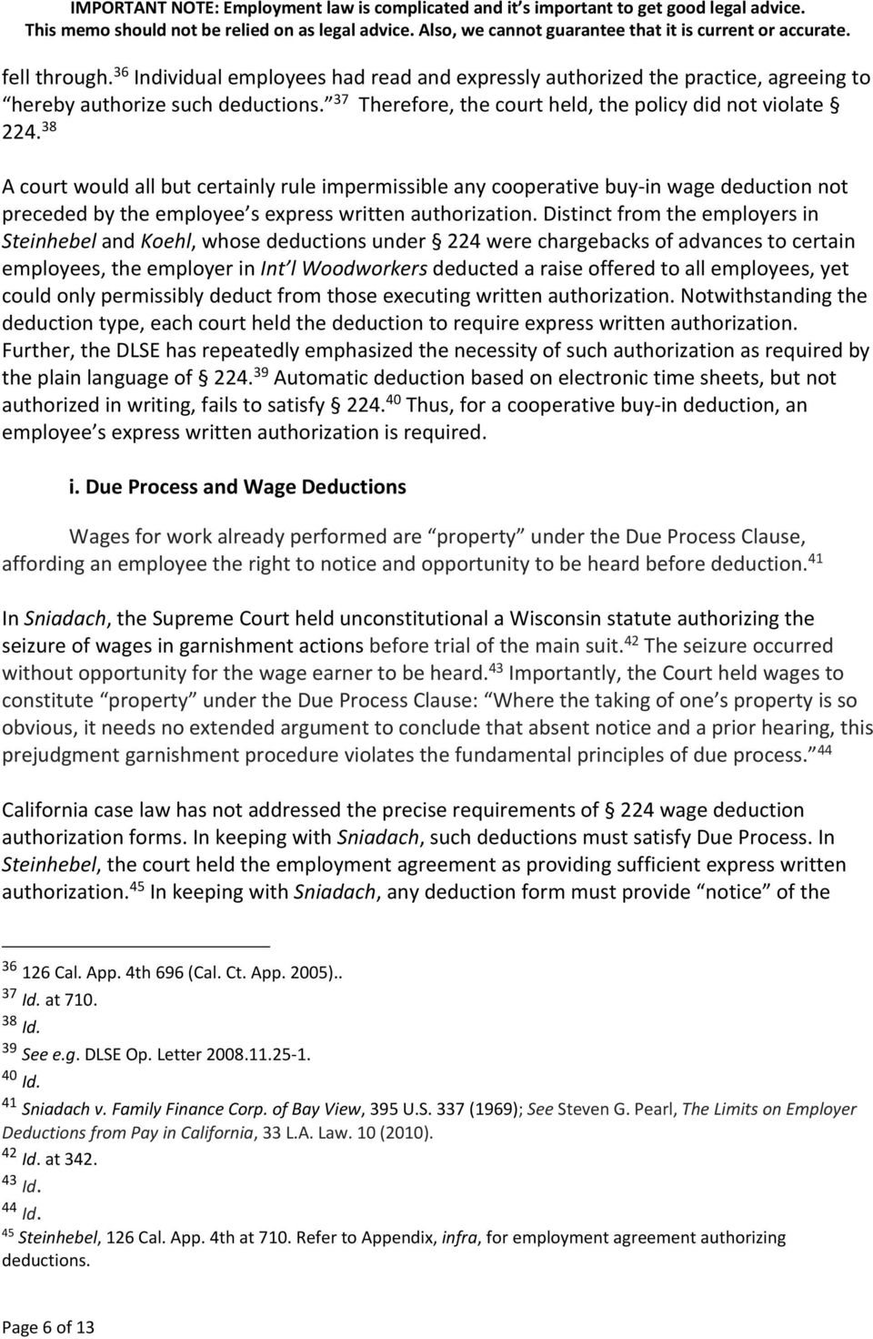 Memo on Deducting Worker Cooperative Capital Contributions from