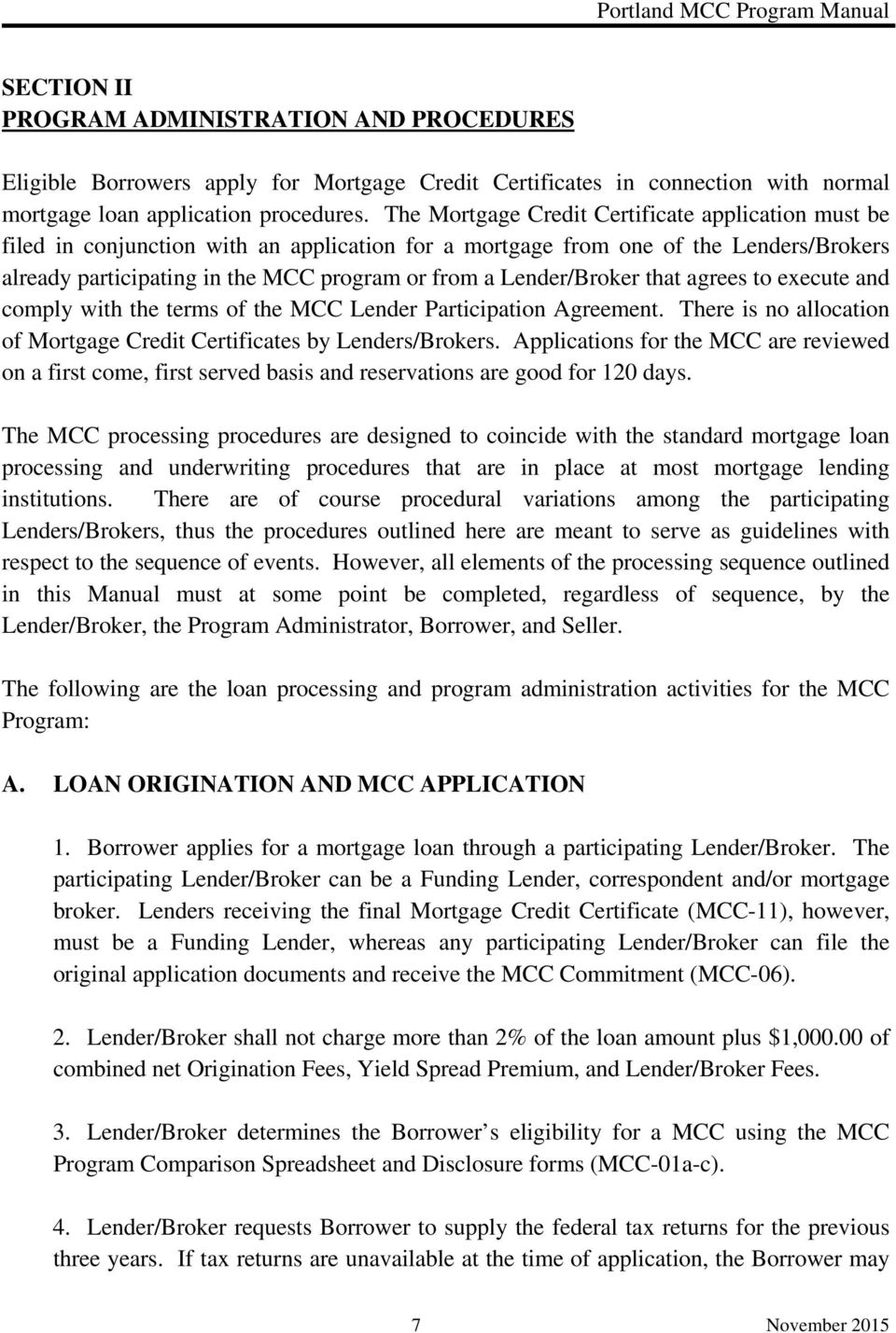 Mortgage Credit Certificate Program Pdf