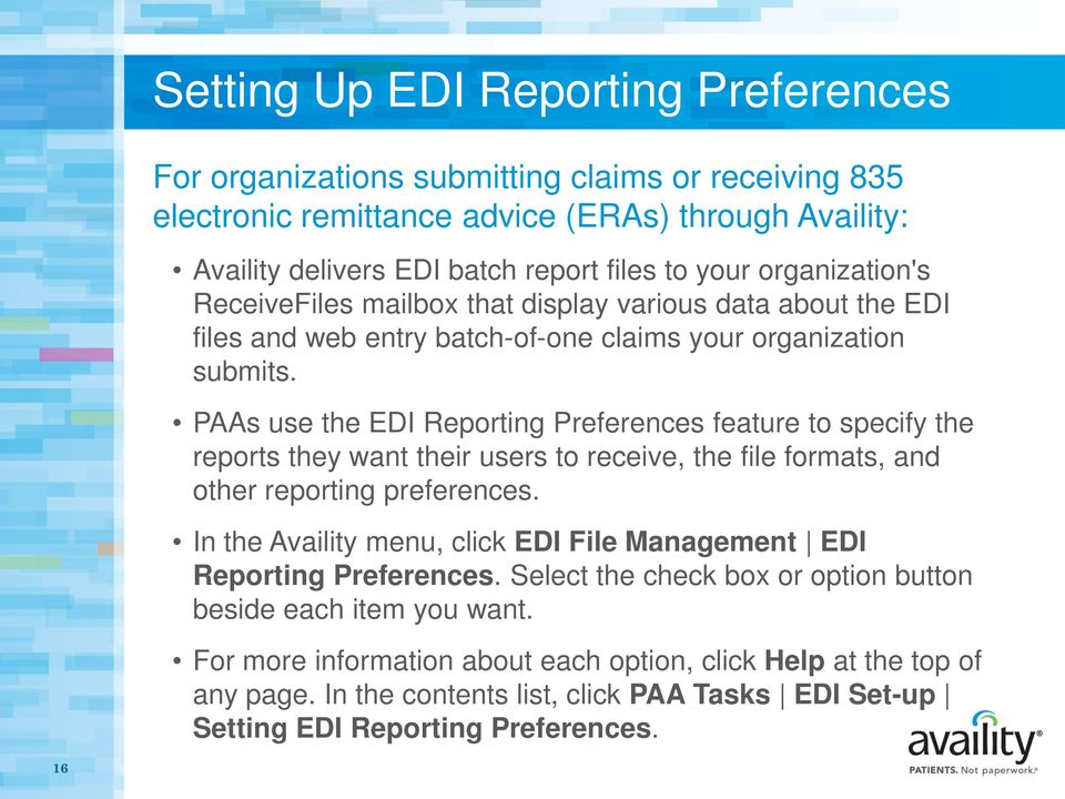 Claims and Electronic Data Interchange (EDI) File Management - PDF