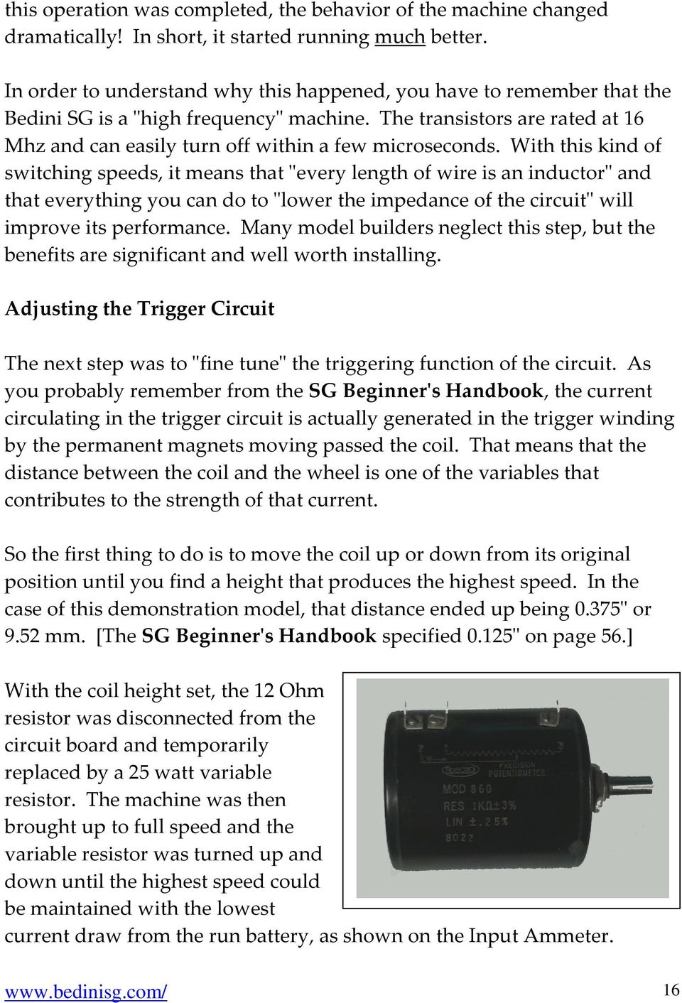 Bedini Sg The Complete Advanced Handbook Written By Peter Thisdiagram Was Used John To Test Tesla Switch With This Kind Of Switching Speeds It Means That Every Length Wire Is