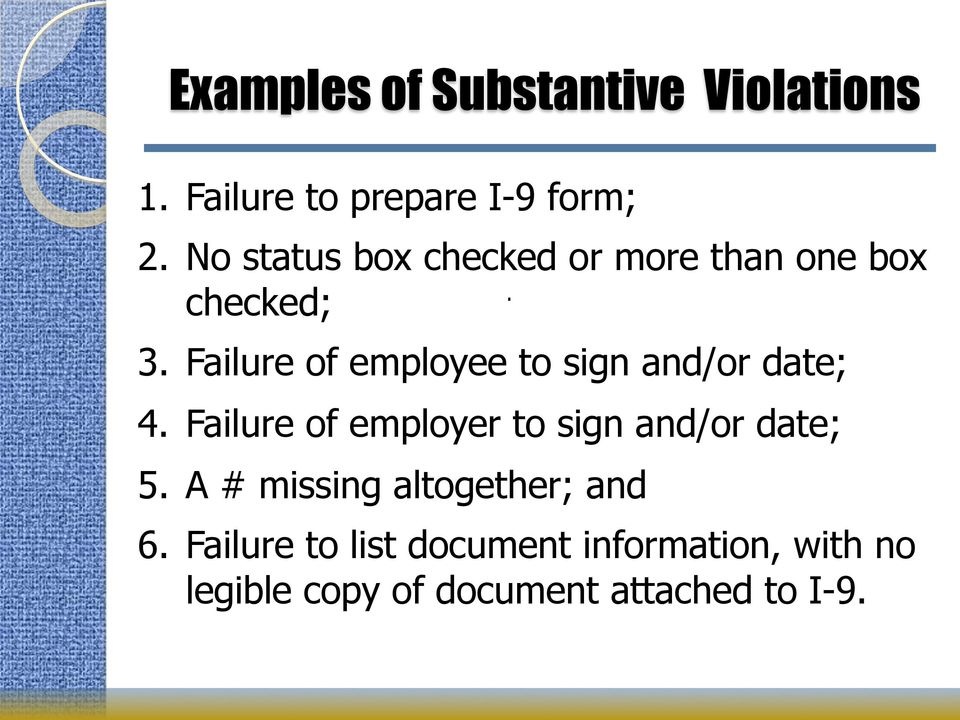 form i-9 violations  Immigration Compliance: I-11 Violations; Self-Audits ...