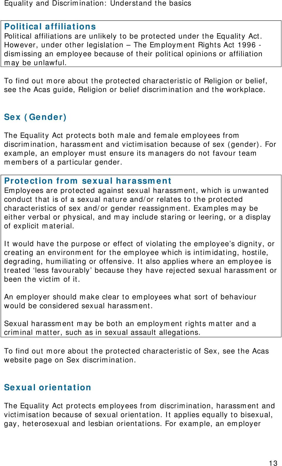 Equality sexual orientation regulations 2019 gmc