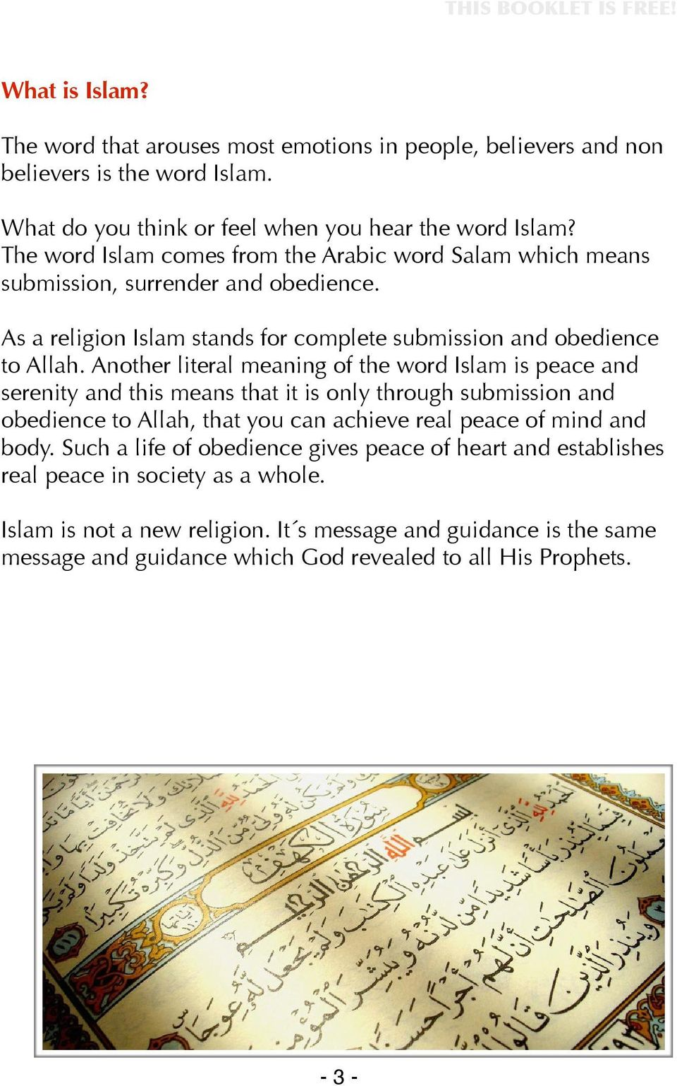 What is Islam? Learn to understand Islam! Project manager