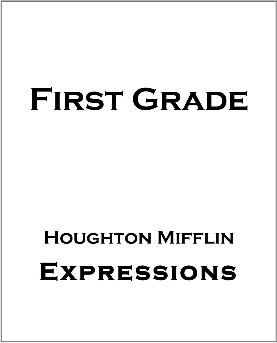 ... Statement: Overall, the HM Expressions Math series is a well put  together comprehensive math program that teaches students the common core  standards ...