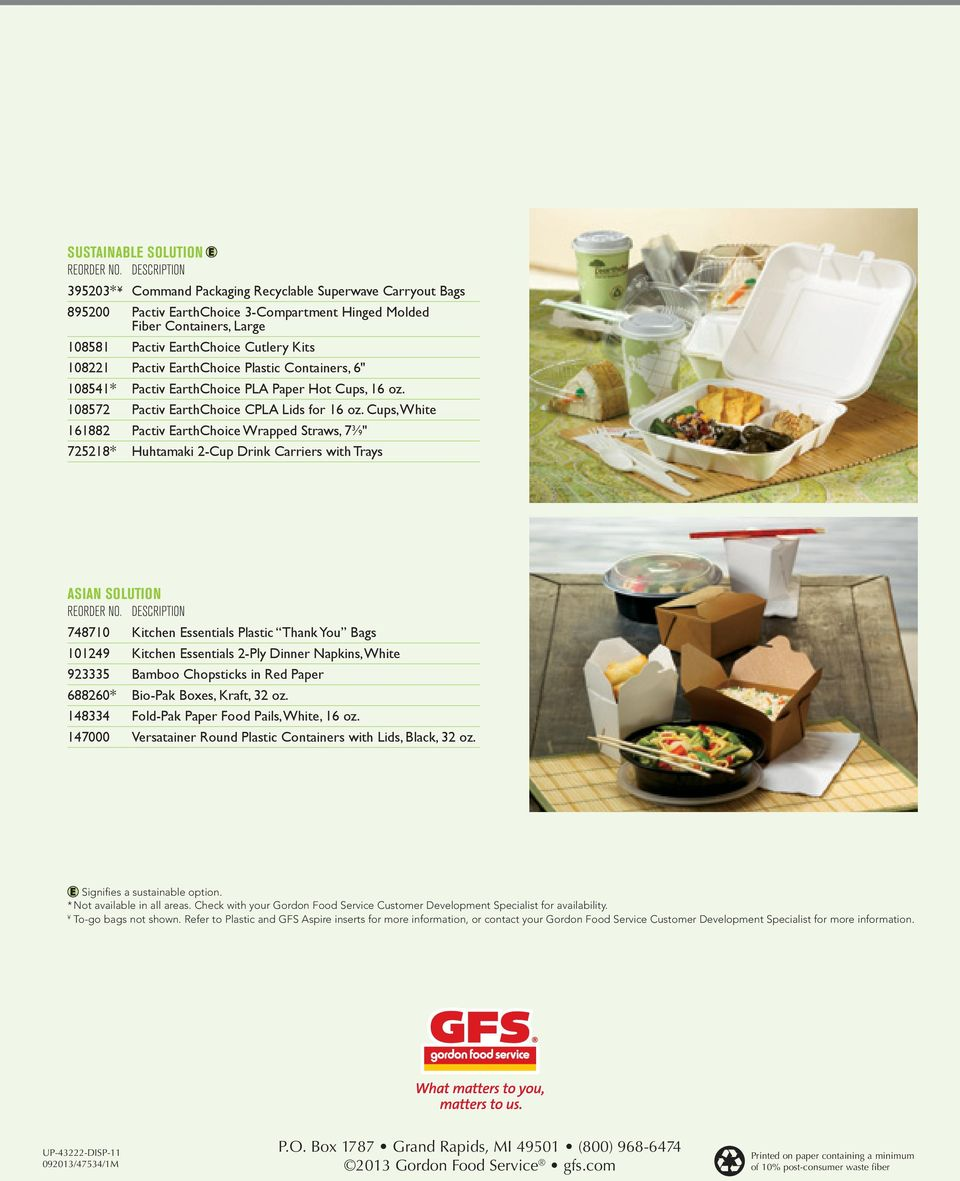 A Guide TO  Disposable Packaging  Gordon Food Service - PDF