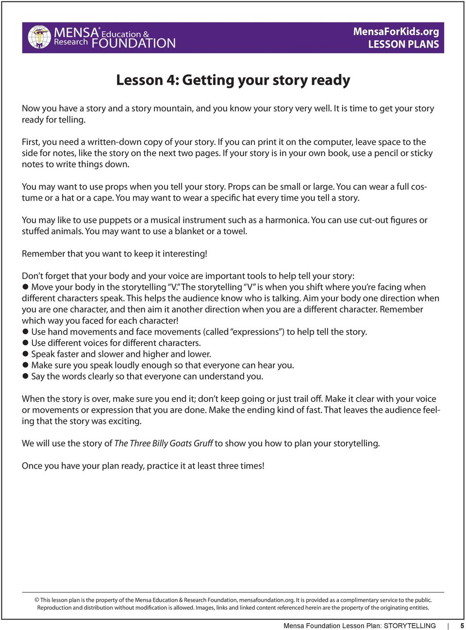 2nd Grade Lesson Plan: Storytelling: The art of a good yarn - PDF