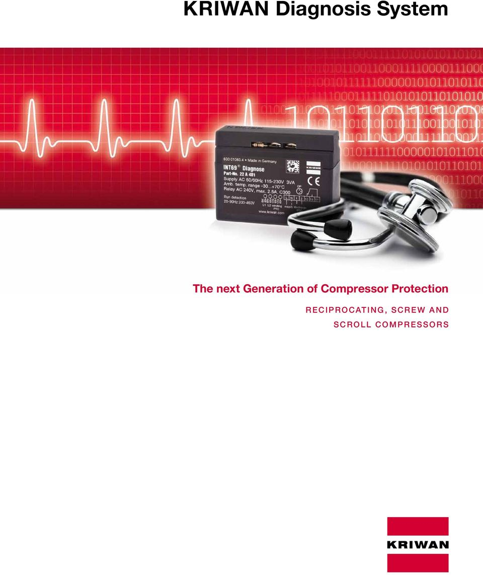 KRIWAN Diagnosis System The next Generation of Compressor