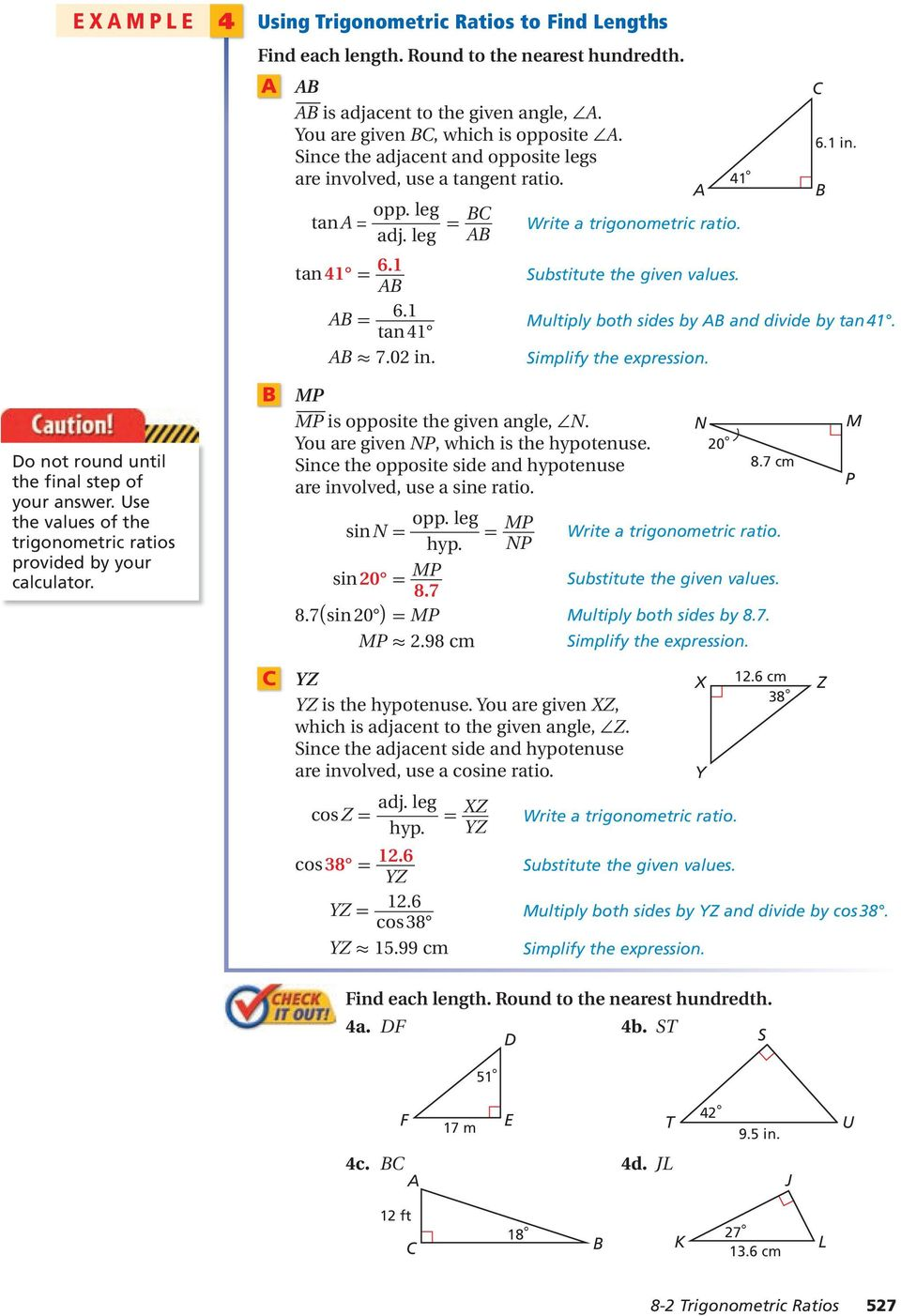 Right triangles and trigonometry pdf substitute the given values multiply both sides by ab and divide by tan 41 fandeluxe Image collections