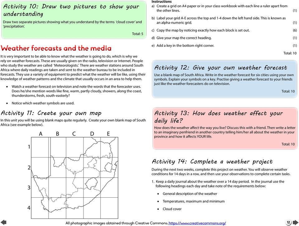Create Your Own Weather Map.Social Sciences Geography Teacher S Guide Grade 5 Term 3 Pdf