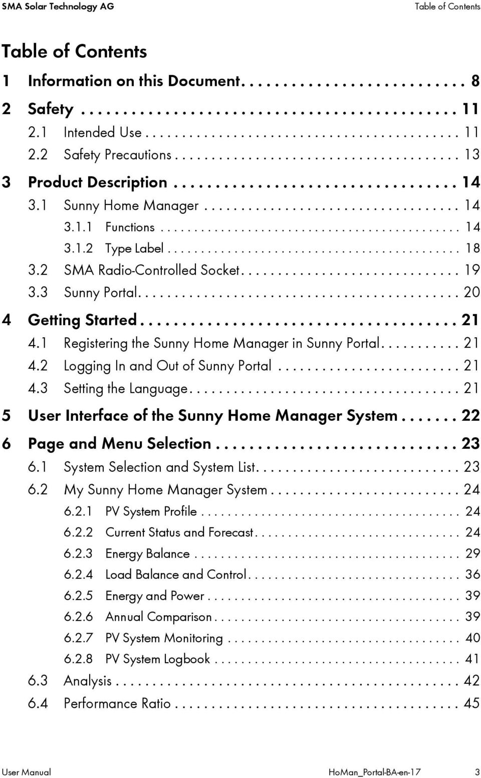 User Manual SUNNY HOME MANAGER in SUNNY PORTAL - PDF