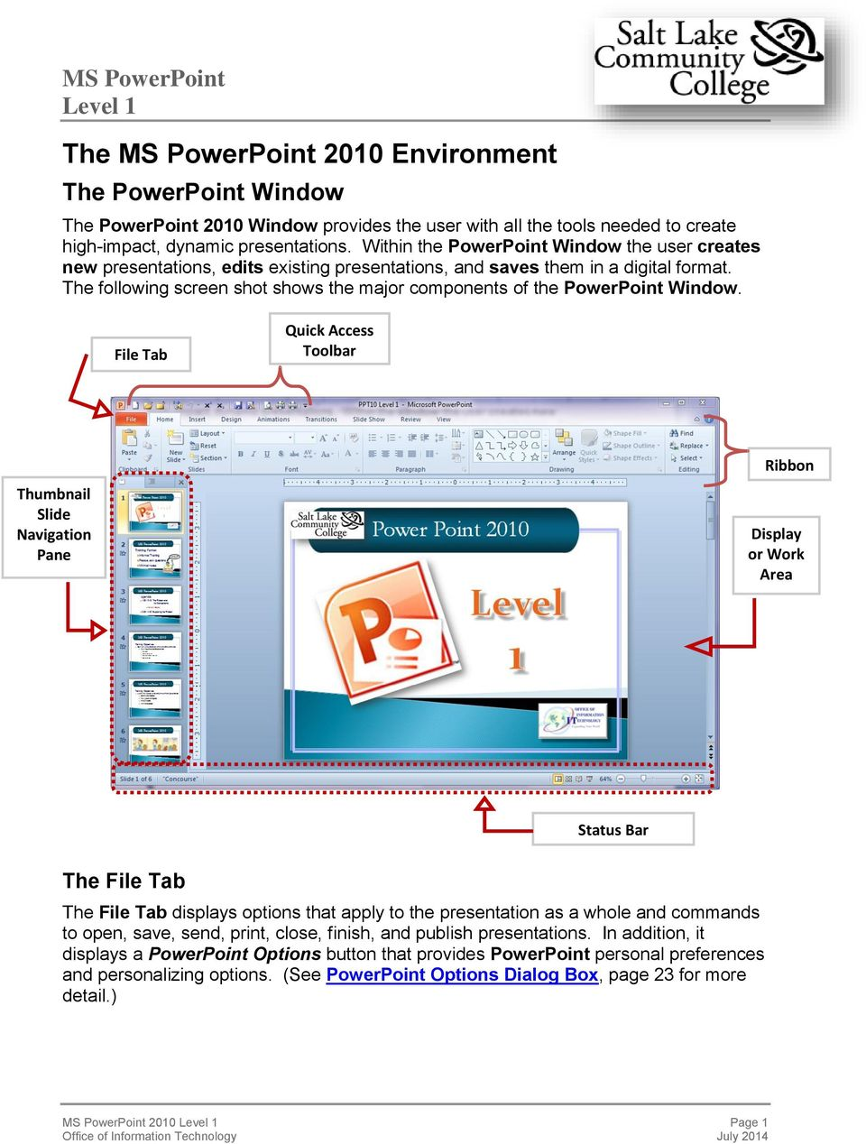 MS PowerPoint Environment - PDF