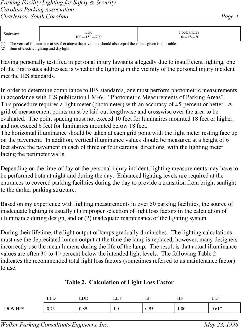 PARKING FACILITY LIGHTING FOR SAFETY AND SECURITY PDF Free