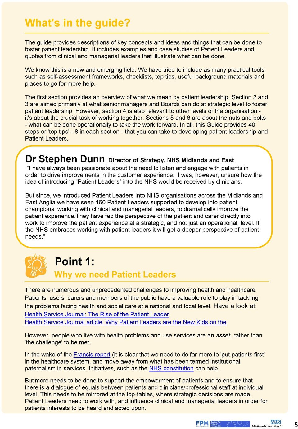 Bring It On 40 Ways To Support Patient Leadership Pdf