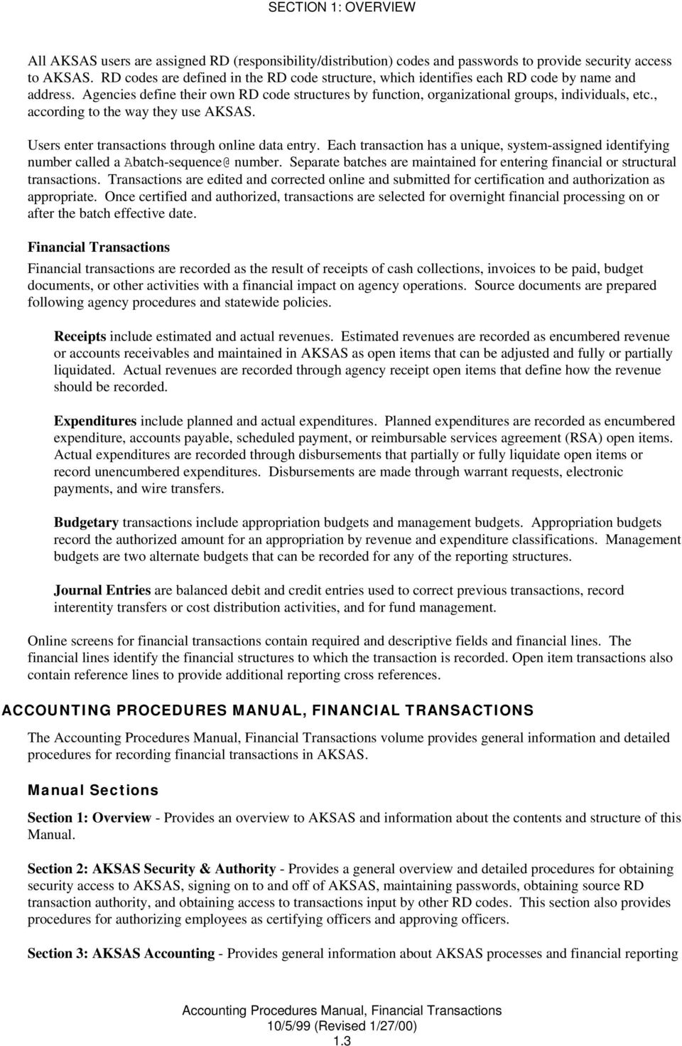 overview to aksas and the accounting procedures manual pdf rh docplayer net Accounting Referencing Accounting Resume References
