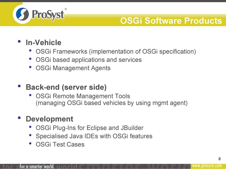 Remote Management Tools (managing OSGi based vehicles by using mgmt agent) Development