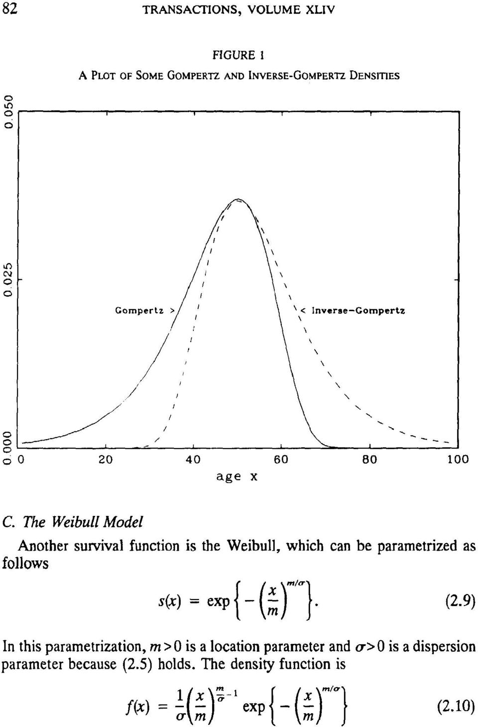 The Weibull Model Another survival function is the Weibull, which can be parametrized as