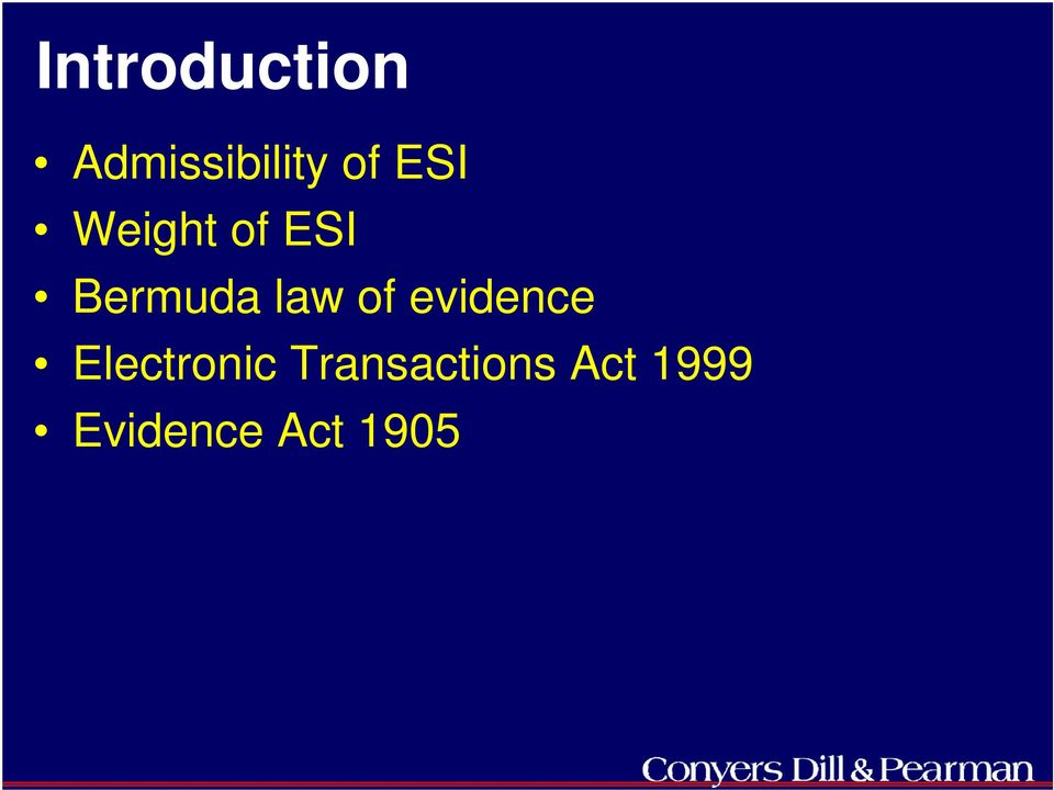 of evidence Electronic
