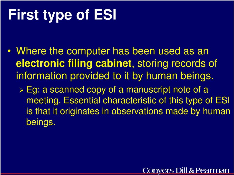 Eg: a scanned copy of a manuscript note of a meeting.