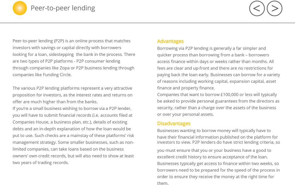 The various P2P lending platforms represent a very attractive proposition for investors, as the interest rates and returns on offer are much higher than from the banks.