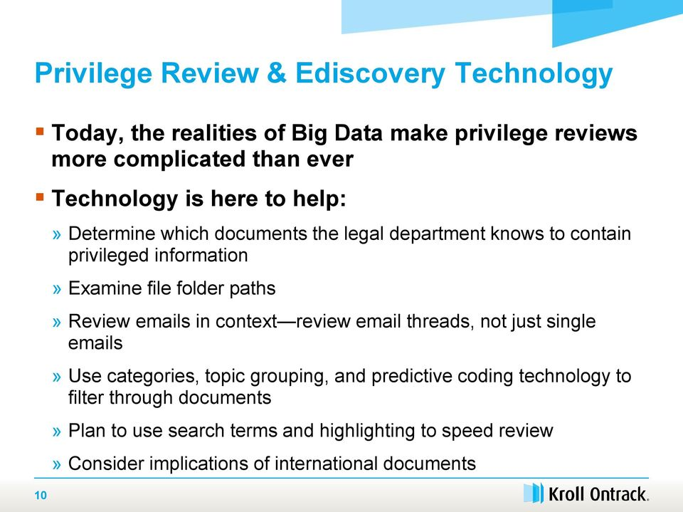 Power Up Your Privilege Review Protecting Privileged Materials In