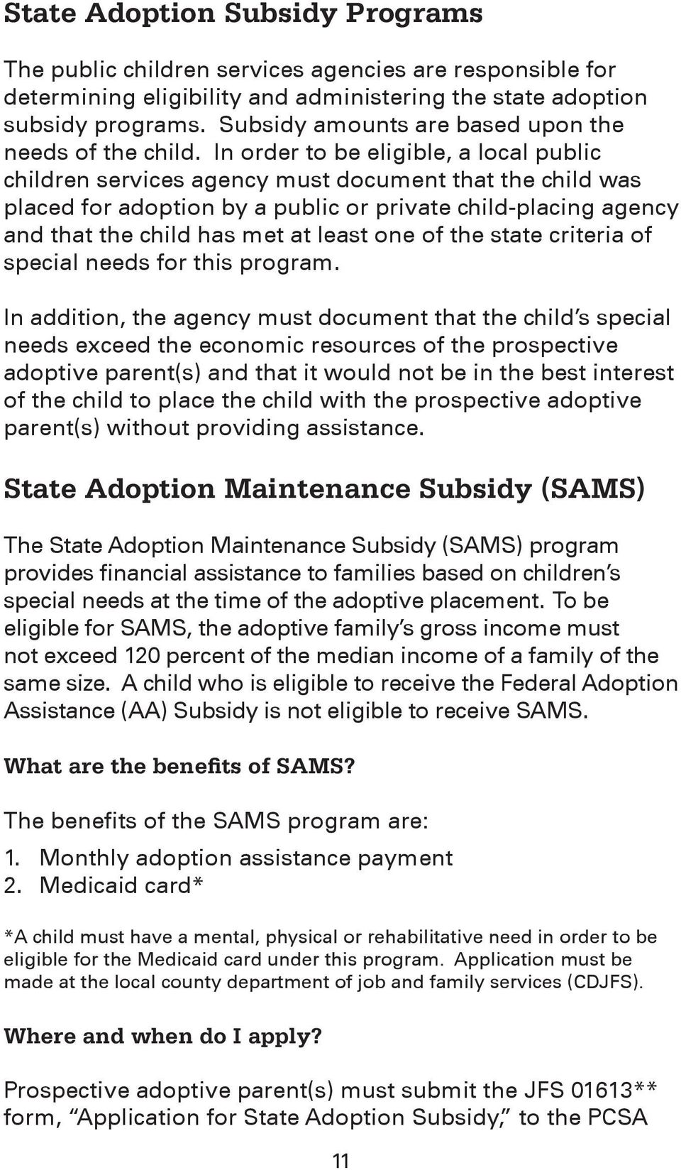 What Is the Adoption Assistance and Child Welfare Act recommendations
