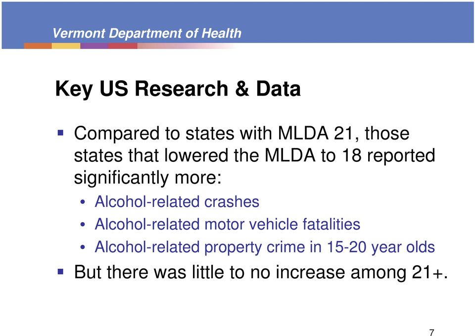 crashes Alcohol-related motor vehicle fatalities Alcohol-related