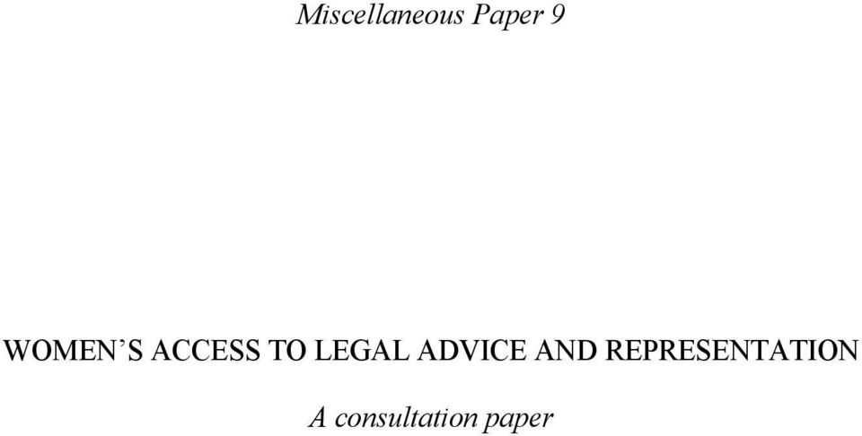 LEGAL ADVICE AND